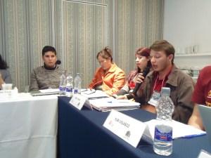 """Mesa de discusión en la mesa """"La criminalización de los movimientos estudiantiles en América Latina y el Caribe"""""""