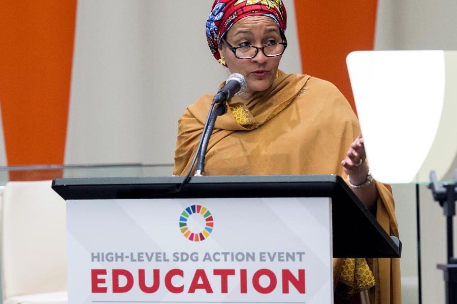 La subsecretaria general de las Naciones Unidas, Amina Mohammed
