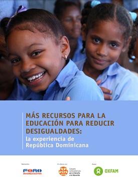 Más recursos para la educación para reducir desigualdades: la experiencia de República Dominicana