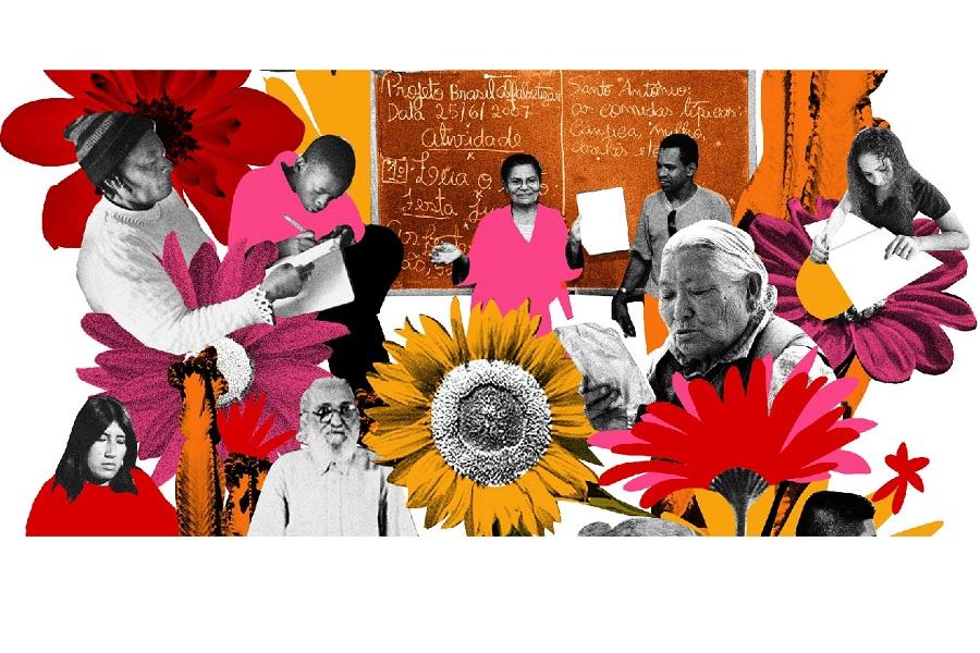 Pieza de divulgación de la Muestra EPJA. La Muestra reune trabajos artísticos de alumnos de EPJA.