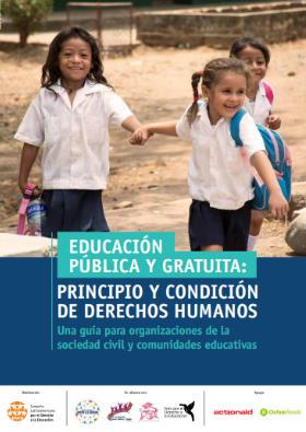 Cartilla «Educación pública y gratuita: principio y condición de derechos humanos»