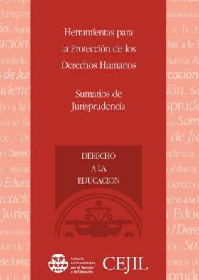 Sumarios de Jurisprudencia: Derecho a la Educación
