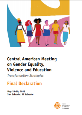 Central American Meeting on Gender Equality, Violence and Education – Final Declaration